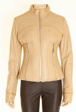 Aphero beige leather jacket